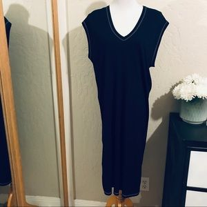 Zara basic Black T-shirt dress size M